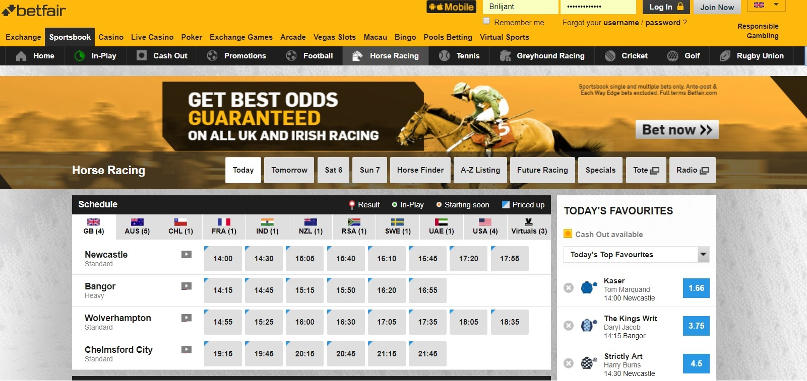 Best Odds Guaranteed Offer on Horse Racing