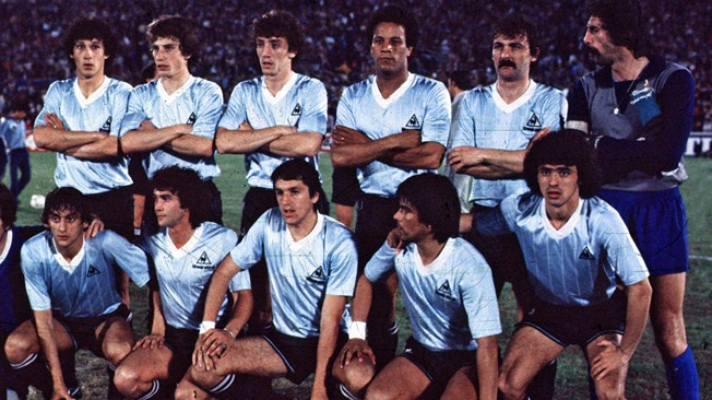 Copa America 1983 winners Uruguayan football team