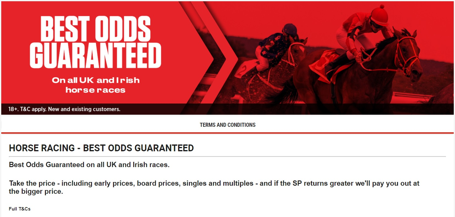 What is the best odds guaranteed offer
