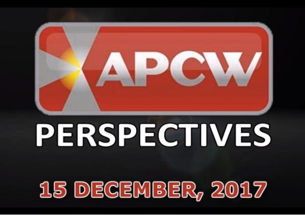 All We Want for Christmas APCW Perspectives for 15 December 2017