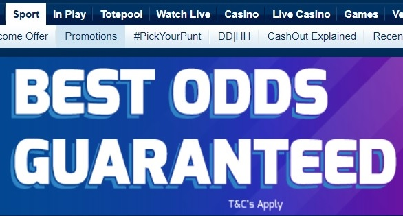 Best Odds Guaranteed Offer