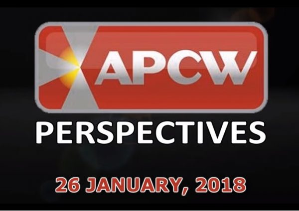Gamblin' in the Rain APCW Perspectives for 26 January 2018