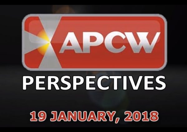 Rollin with the Changes APCW Perspectives for 19 January 2018
