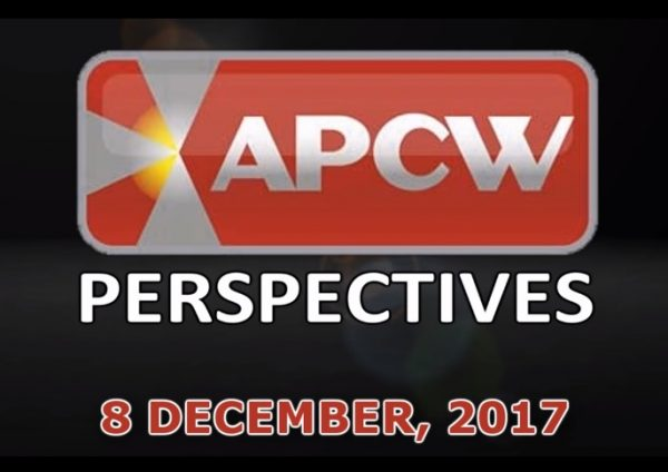 Shifting Sands and Changing Tides APCW Perspectives for 8 December 2017