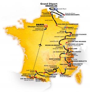 tour de france teams route dates