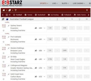 betting odds afl grand final bets 888starz