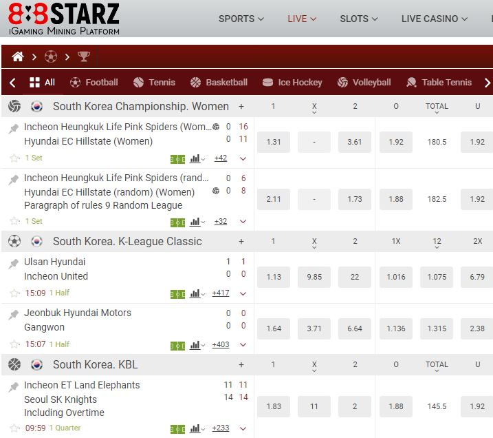 888starsz odds and betting markets