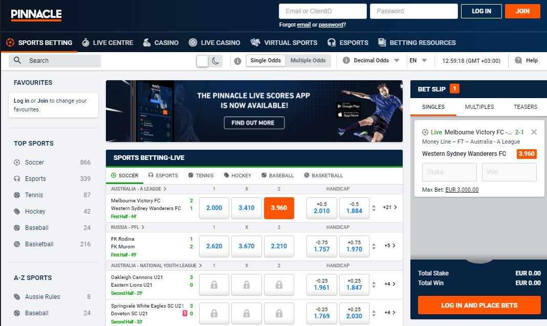 pinnacle sports betting limits reviews soccer tennis