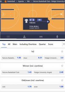 betmaster basketball live betting