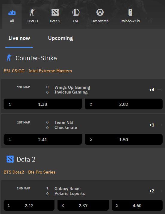 arcanebet esports mobile betting