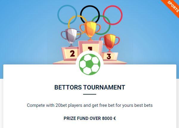 20bet bettors tournament